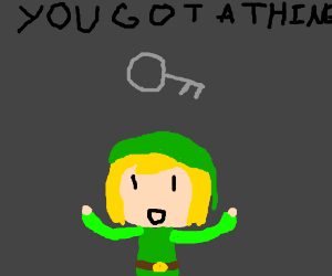 Toon Link finds a silver key