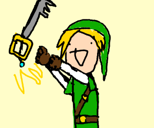 Link has now become a keyblade master