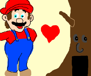 Mario falls in love with an angry Deku tree
