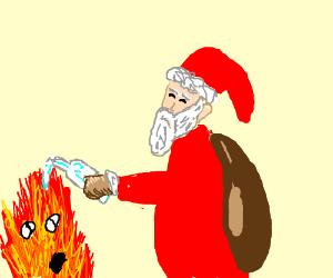Santa gifts Pyro the one gift that makes sense