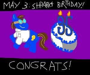 Shparks celebrates 35th birthday on May 3rd.