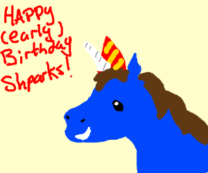 Shpark's birthday is coming! Congratulations!