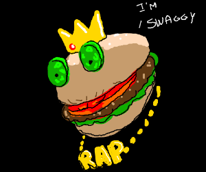 Burger king haz became a swaggy rapper