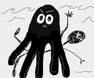 Deadly jellyfish attacks human