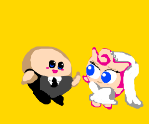 The happy marriage of Kirby and Jigglypuff! :)
