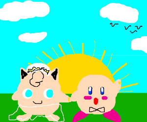 jigglypuff and kirby marrying