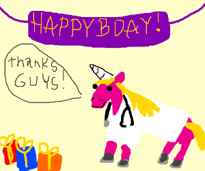 Happy birthday, Dr. Unicorn!