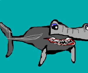 Uh, who gave the hammerhead shark demon armor?