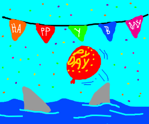 """Sharks play """"pass the balloon"""" at B-day party"""