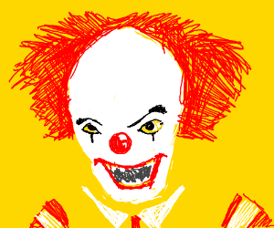 """Ronald McPennywise """"happy meal"""" !"""