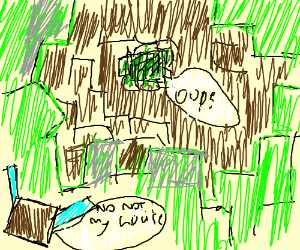 Creeper ruins hours of hard work in style