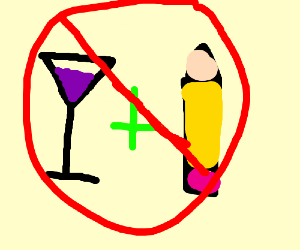 Friends don't let friends drink and draw.