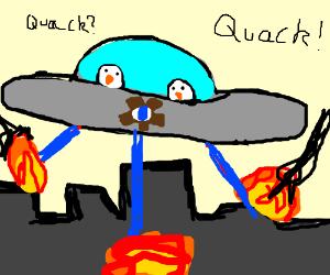 Cog-eyed cyclops duck UFO