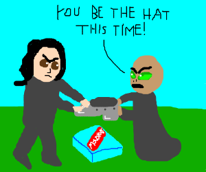 Snape and Voldemort fight over monopoly again