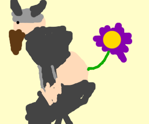 Viking Has A Flower Coming Out of His Butt