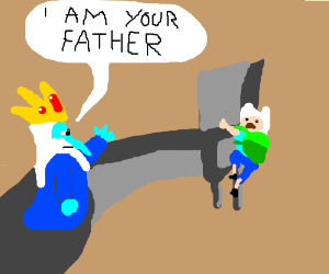 Finn finds out the ice king is his farther