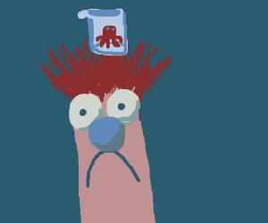 Octopus in a beaker floating on Beaker