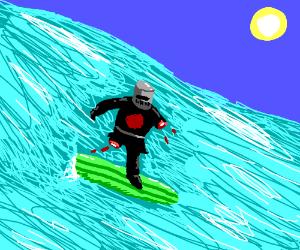 Monty Python's Dark Knight surfing