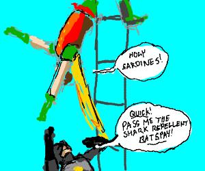 Old Batman Movie - Shark Repellent Batspray