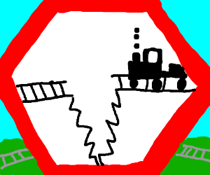 warning! broken railroad ahead!