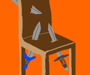 Why did you put all these swords in my chair?