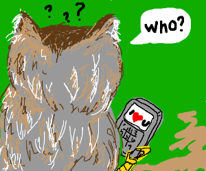 Owl confused by confesion of love.