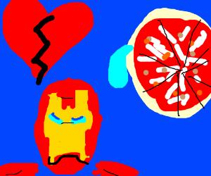 Iron Man broke Pizza's heart