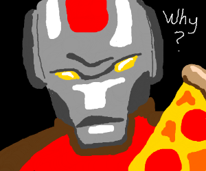Ironman is heartbroken because of a pizza