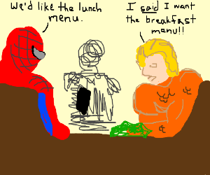 spiderman nd aqwa min fight ovr menew