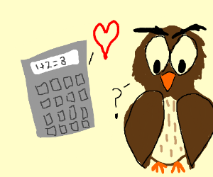 Calculator falls in love with Owl
