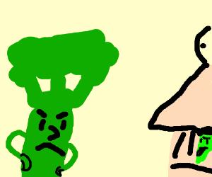 Johnny Broccoli thinks it's snot funny