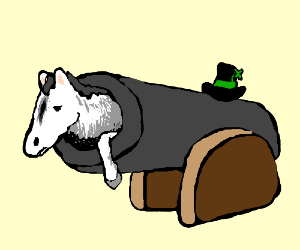 Horse cannon is irish and proud