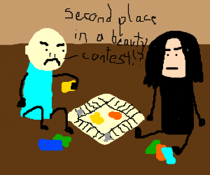 Voldemort and Snape play a board game together