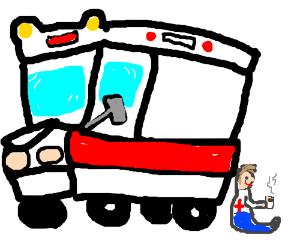 Whelp, sorry sir, EMT's need breaks, too.