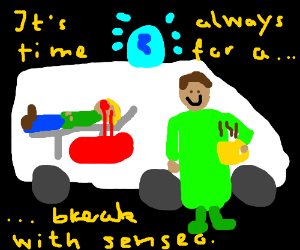 ambulance driver on a coffee break