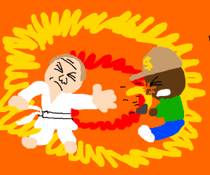 Karate novice assaults gunman... with a banana