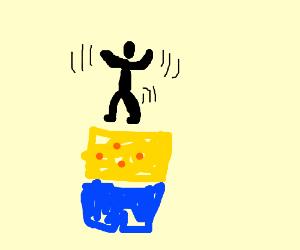 Guy dances on spongebob's head