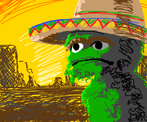 Sombrero'd Oscar the Grouch