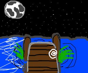 stary night over the docks