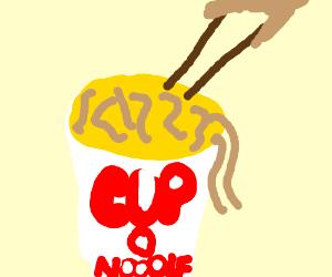 an asian noodle soup