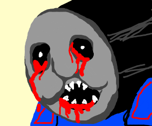 Thomas The Tank Engine Is About To Kill You Drawception
