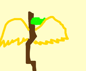 stick with golden wings