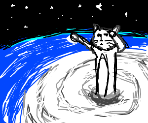 Giant cat in space!