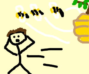 OH NO NOT THE BEES!