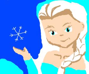 Queen Elsa being artistic.