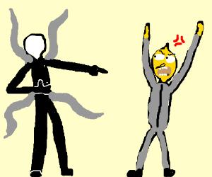 Slenderman makes fun of lemongrab