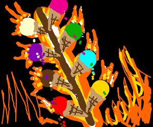 So many molten ice creams on a stick