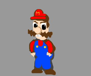 Luigi Dressed as Wario in Mario's Clothes.