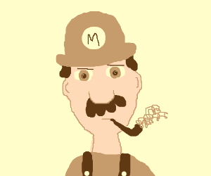 Detective sepia Mario is on the case!
