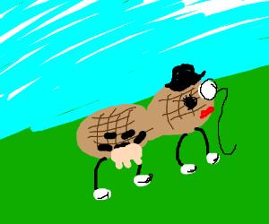 Planter's Peanut lady as a cow.